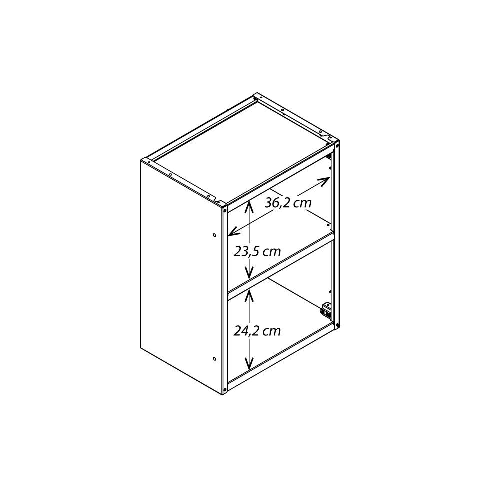 Armário de Parede Colormaq Ipanema Master 1 Porta em Aço e Vidro