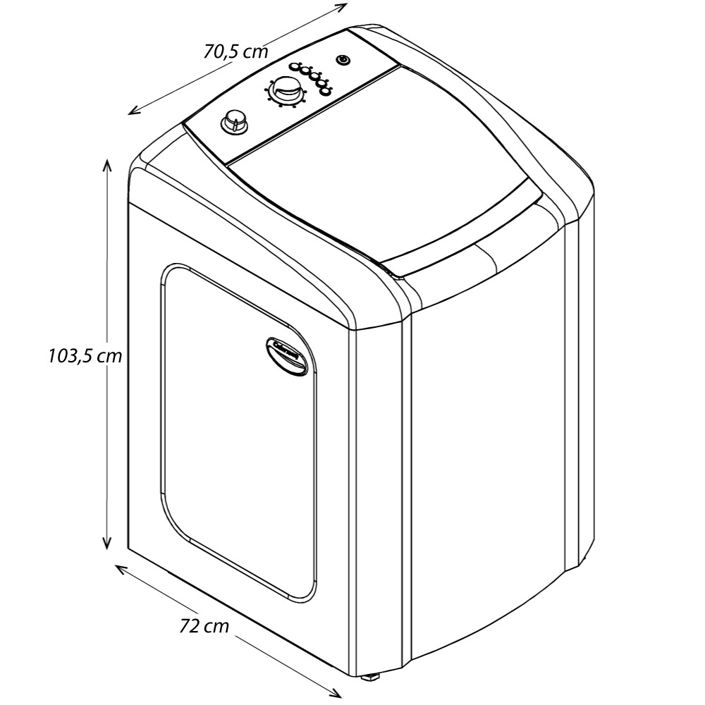 Lavadora de Roupas Automática Colormaq 15kg Branca