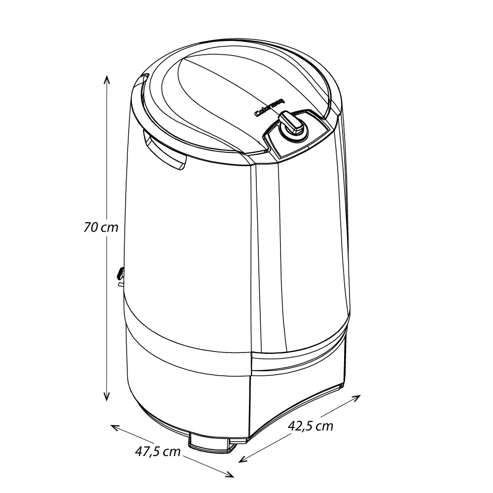 Centrífuga de Roupas Colormaq 4kg