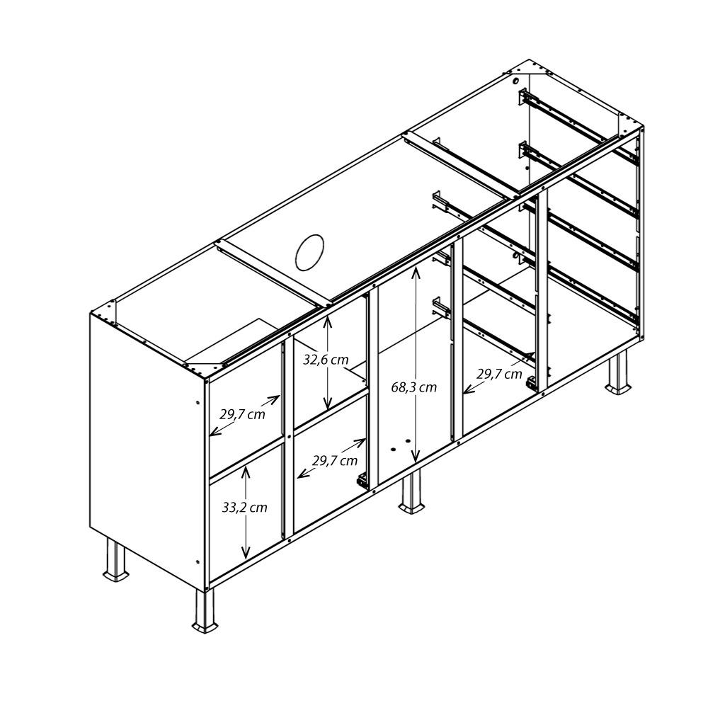 Resultado de imagem para gabinete de pia 1,80 desenho