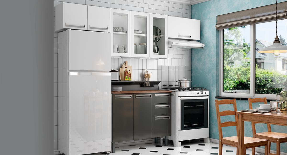 Cozinha Completa Colormaq Roma 5 Peças em Aço