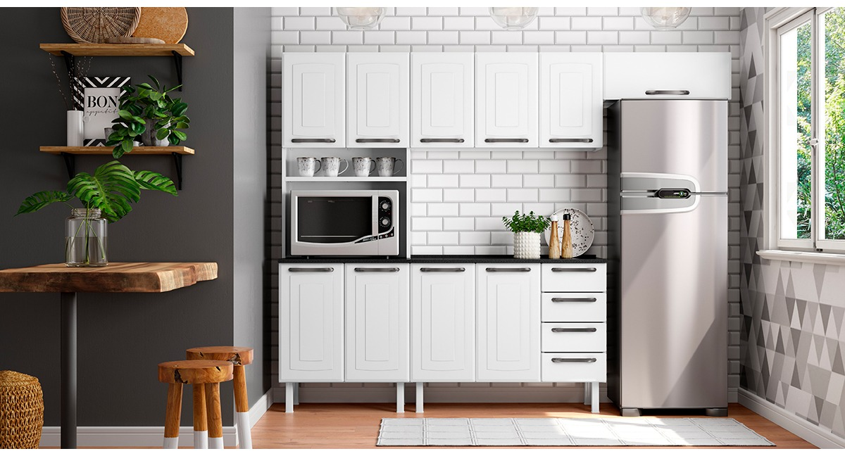Cozinha Completa Colormaq Titanium 4 Peças em Aço