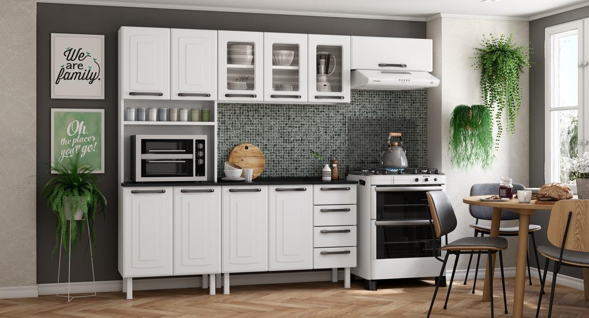 Cozinha Completa Colormaq Titanium 4 Peças em Aço e Vidro
