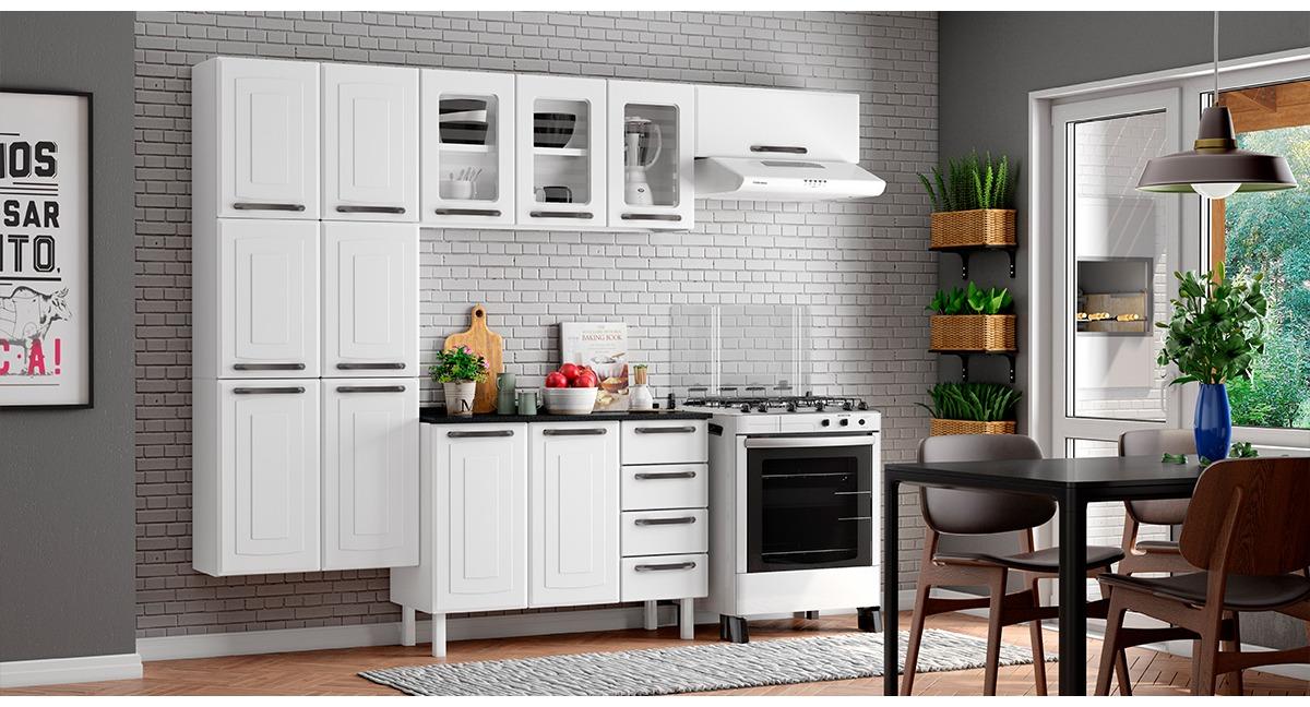 Cozinha Completa Colormaq Titanium 4 Peças em Vidro