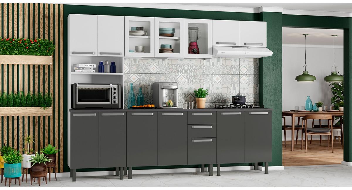 Cozinha Completa Colormaq Verona 5 Peças em Aço e Vidro