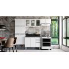 Cozinha Colormaq Roma 5 Peças Aço e Vidro Balcão e Tampo Grafito