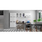 Cozinha Colormaq Titanium 3 Peças em Aço e Vidro Branco