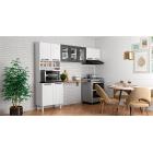 Cozinha Colormaq Titanium 3 Peças em Aço Branco e Grafito