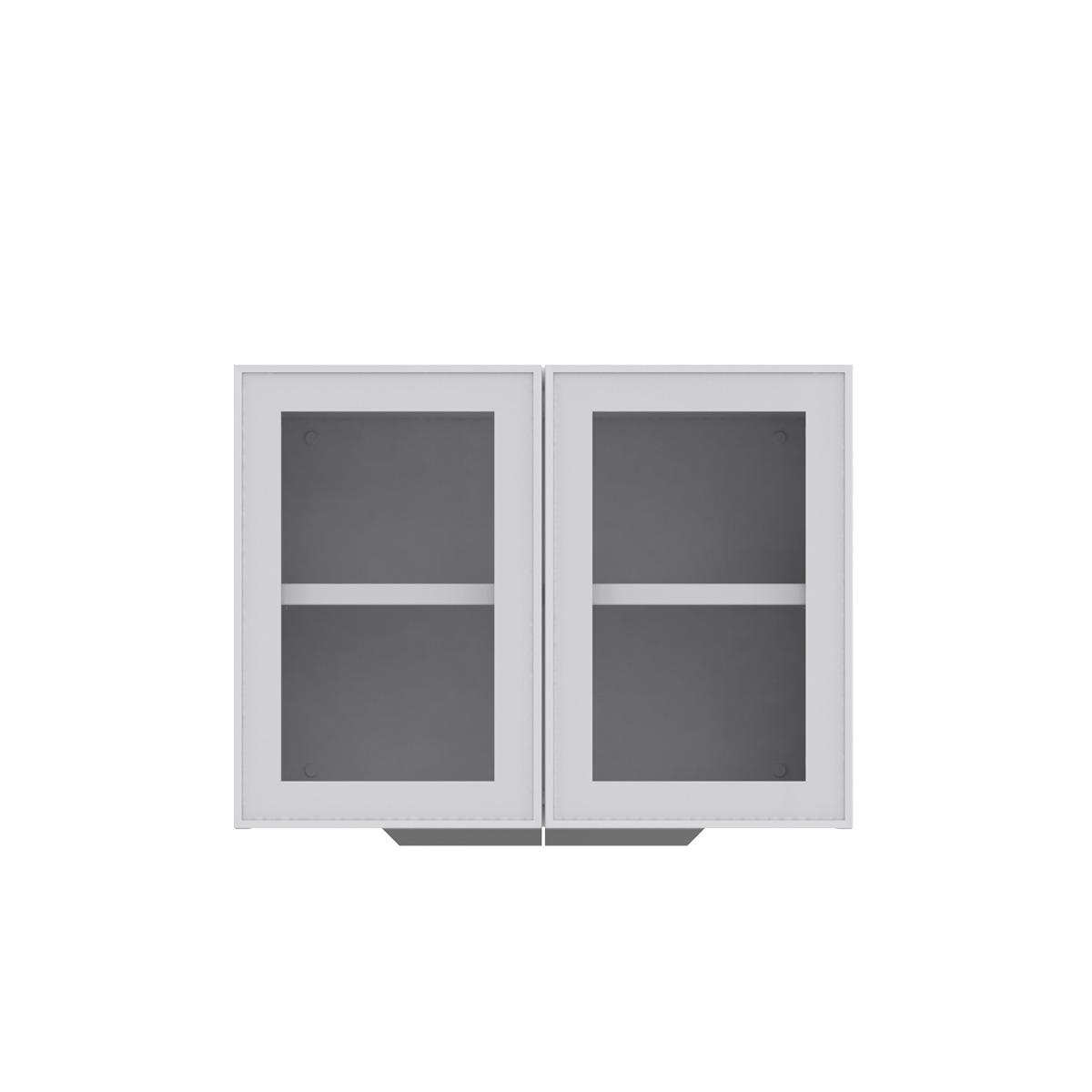Armário de Cozinha Aéreo Colormaq Roma 2 Portas 52,5x70cm em Aço e Vidro