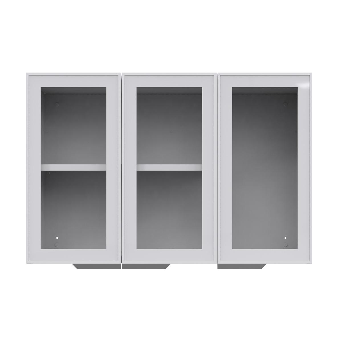 Armário de Cozinha Aéreo Colormaq Roma 3 Portas 70,5x105cm em Aço e Vidro