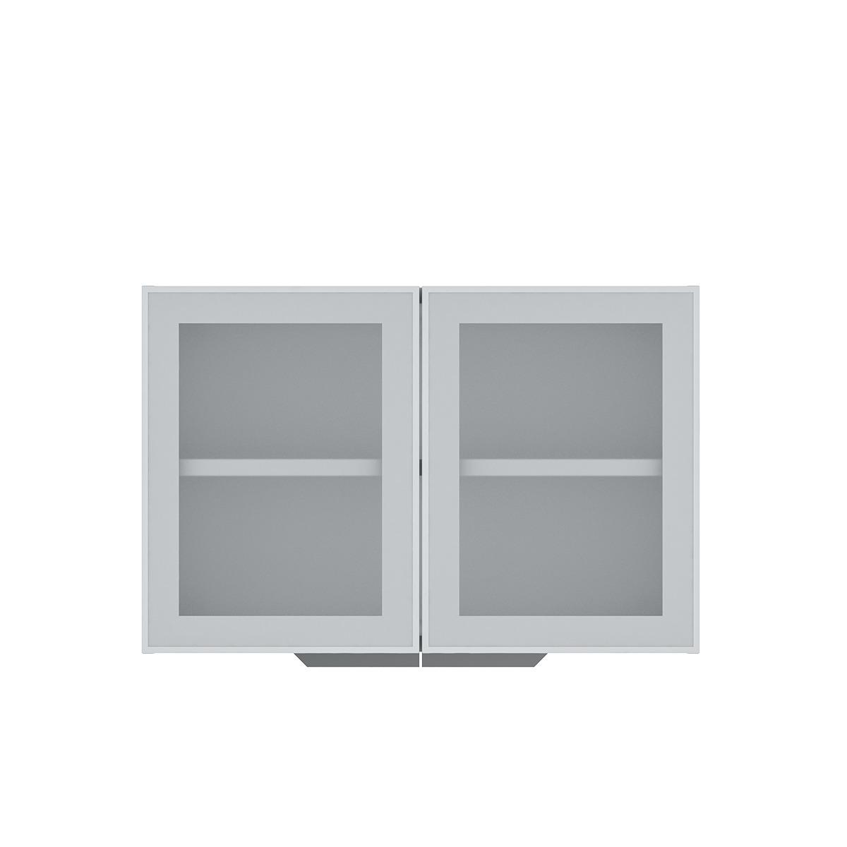 Armário de Cozinha Aéreo Colormaq Verona 2 Portas 52,8x80cm em Aço e Vidro