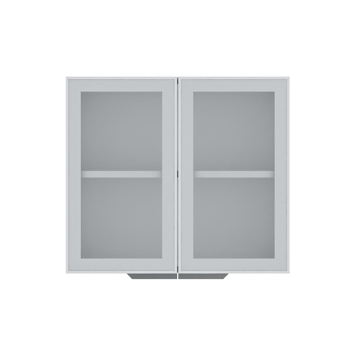 Armário de Cozinha Aéreo Colormaq Verona 2 Portas 70x80cm em Aço e Vidro