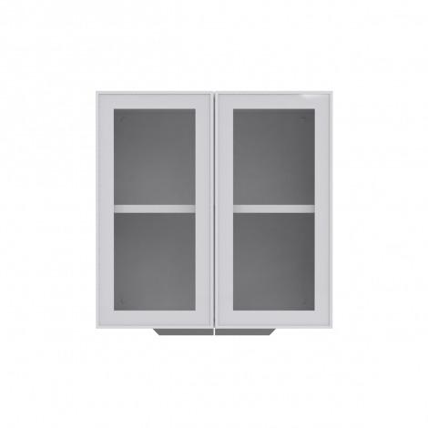 Armário de Cozinha Aéreo Colormaq Roma 2 Portas 70,5x70cm em Aço e Vidro