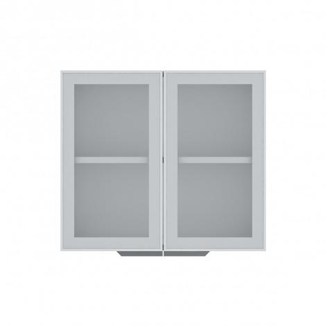 2x Armário de Cozinha Aéreo Colormaq Verona 2 Portas 70x80cm em Aço e Vidro