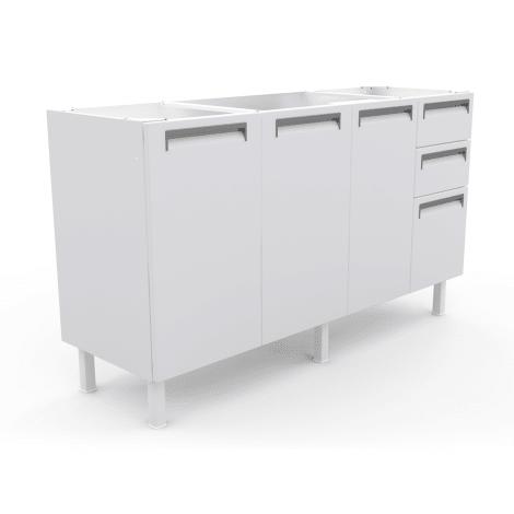 Gabinete de Cozinha Colormaq Roma para Pia de 1,50m em Aço Branco