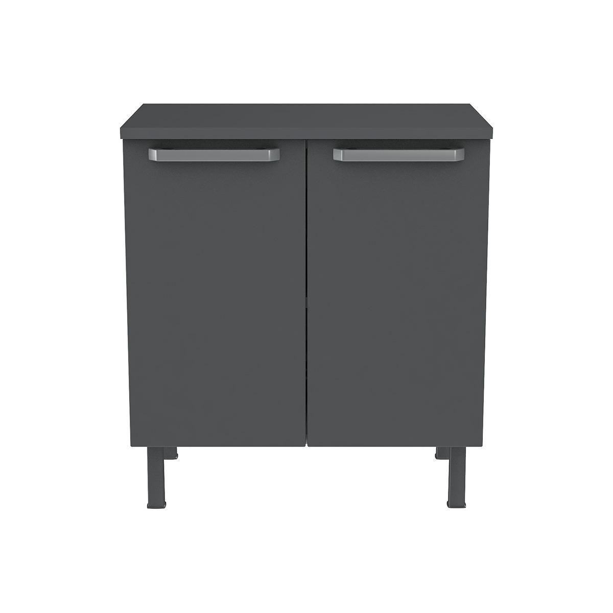 Balcão de Cozinha Colormaq Verona 80cm 2 Portas em Aço