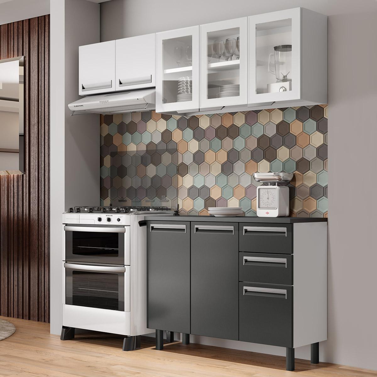 Cozinha Completa Colormaq Roma 3 Peças em Aço {{add_nome}}