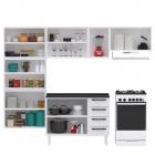 Cozinha Completa Colormaq Titanium 4 Peças em Aço 168x245x43,5cm