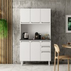 Kit de Cozinha Colormaq Roma 5 Portas, 2 Gavetas e 1 Gavetão em Aço Branco e Grafito vista ambientada
