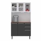 Kit de Cozinha Colormaq Roma 5 Portas, 2 Gavetas e 1 Gavetão em Aço e Vidro vista frontal