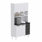 Kit de Cozinha Colormaq Titanium 5 Portas, 4 Gavetas em Aço vista diagonal