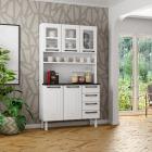 Kit de Cozinha Colormaq Titanium 5 Portas, 4 Gavetas em Aço e Vidro vista ambientada